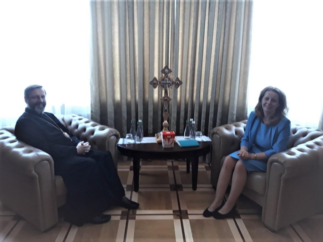 Зустріч Голови ДЕСС Олени Богдан і Глави УГКЦ Блаженнішого Святослава